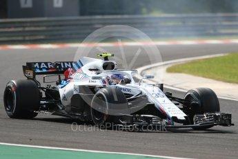 World © Octane Photographic Ltd. Formula 1 – Hungarian GP - Practice 2. Williams Martini Racing FW41 – Sergey Sirotkin. Hungaroring, Budapest, Hungary. Friday 27th July 2018.