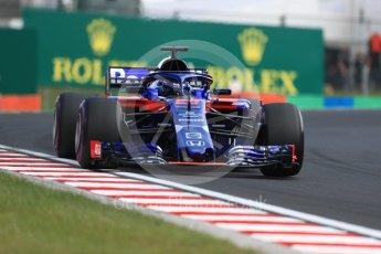 World © Octane Photographic Ltd. Formula 1 – Hungarian GP - Practice 2. Scuderia Toro Rosso STR13 – Brendon Hartley. Hungaroring, Budapest, Hungary. Friday 27th July 2018.