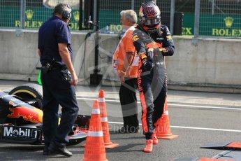World © Octane Photographic Ltd. Formula 1 – Hungarian GP - Practice 2. Aston Martin Red Bull Racing TAG Heuer RB14 – Max Verstappen. Hungaroring, Budapest, Hungary. Friday 27th July 2018.
