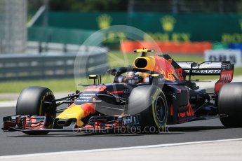 World © Octane Photographic Ltd. Formula 1 – Hungarian GP - Practice 3. Aston Martin Red Bull Racing TAG Heuer RB14 – Max Verstappen. Hungaroring, Budapest, Hungary. Saturday 28th July 2018.