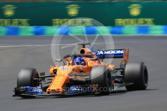 World © Octane Photographic Ltd. Formula 1 – Hungarian GP - Practice 3. McLaren MCL33 – Fernando Alonso. Hungaroring, Budapest, Hungary. Saturday 28th July 2018.