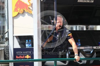 World © Octane Photographic Ltd. Formula 1 - Hungarian GP - Practice 3. Jonathan Wheatley - Team Manager of Red Bull Racing. Hungaroring, Budapest, Hungary. Friday 27th July 2018.