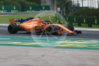 World © Octane Photographic Ltd. Formula 1 – Hungarian GP - Qualifying. McLaren MCL33 – Fernando Alonso. Hungaroring, Budapest, Hungary. Saturday 28th July 2018.