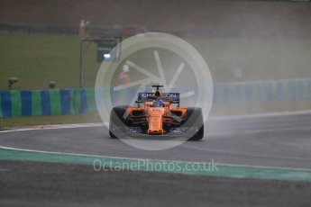 World © Octane Photographic Ltd. Formula 1 – Hungarian GP - Qualifying. McLaren MCL33 – Fernando Alonso. Hungaroring, Budapest, Hungary. Saturday 28th July 2018.