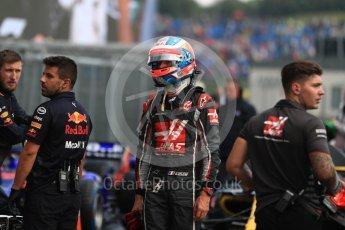 World © Octane Photographic Ltd. Formula 1 – Hungarian GP - Qualifying. Haas F1 Team VF-18 – Romain Grosjean. Hungaroring, Budapest, Hungary. Saturday 28th July 2018.