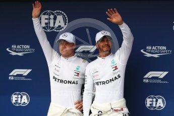 World © Octane Photographic Ltd. Formula 1 – Hungarian GP - Qualifying. Mercedes AMG Petronas Motorsport AMG F1 W09 EQ Power+ - Lewis Hamilton and Valtteri Bottas. Hungaroring, Budapest, Hungary. Saturday 28th July 2018.