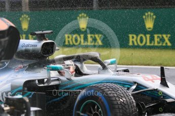 World © Octane Photographic Ltd. Formula 1 – Hungarian GP - Qualifying. Mercedes AMG Petronas Motorsport AMG F1 W09 EQ Power+ - Lewis Hamilton. Hungaroring, Budapest, Hungary. Saturday 28th July 2018.