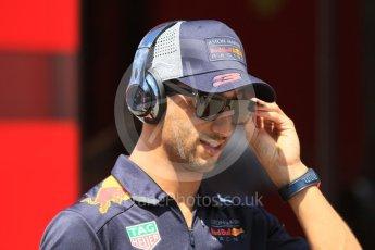 World © Octane Photographic Ltd. Formula 1 – Hungarian GP - Paddock. Aston Martin Red Bull Racing TAG Heuer RB14 – Daniel Ricciardo. Hungaroring, Budapest, Hungary. Sunday 29th July 2018.