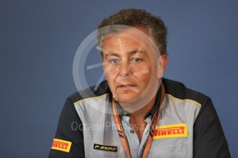 World © Octane Photographic Ltd. Formula 1 - Hungarian GP - Friday FIA Team Press Conference. Mario Isola – Pirelli Head of Car Racing. Hungaroring, Budapest, Hungary. Friday 27th July 2018.
