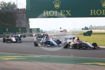 World © Octane Photographic Ltd. GP3 – Hungarian GP – Race 1. Campos Racing - Diego Menchaca and Jenzer Motorsport - Tatiana Calderon. Hungaroring, Budapest, Hungary. Saturday 28th July 2018.