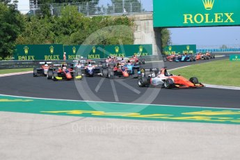 World © Octane Photographic Ltd. GP3 – Hungarian GP – Race 2. MP Motorsport - Dorian Boccolacci leads the field. Hungaroring, Budapest, Hungary. Sunday 29th July 2018.
