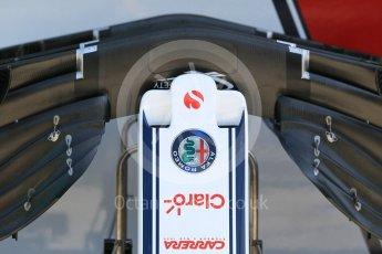 World © Octane Photographic Ltd. Formula 1 – Hungarian GP - Pitlane. Alfa Romeo Sauber F1 Team C37. Hungaroring, Budapest, Hungary. Thursday 26th July 2018.