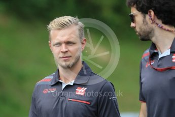 World © Octane Photographic Ltd. Formula 1 – Hungarian GP - Track Walk. Haas F1 Team VF-18 – Kevin Magnussen. Hungaroring, Budapest, Hungary. Thursday 26th July 2018.