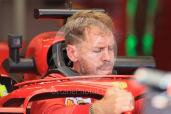 World © Octane Photographic Ltd. Formula 1 – Hungarian GP - Pit Lane. Scuderia Ferrari SF71-H – Sebastian Vettel. Hungaroring, Budapest, Hungary. Thursday 26th July 2018.