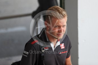 World © Octane Photographic Ltd. Formula 1 – Hungarian GP - Paddock. Haas F1 Team - Kevin Magnussen. Hungaroring, Budapest, Hungary. Thursday 26th July 2018.