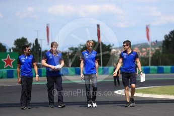 World © Octane Photographic Ltd. Formula 1 – Hungarian GP - Track walk. Scuderia Toro Rosso – Brendon Hartley. Hungaroring, Budapest, Hungary. Thursday 26th July 2018.