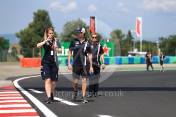World © Octane Photographic Ltd. Formula 1 – Hungarian GP - Track walk. Sahara Force India - Sergio Perez. Hungaroring, Budapest, Hungary. Thursday 26th July 2018.