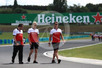 World © Octane Photographic Ltd. Formula 1 – Hungarian GP - Track walk. Alfa Romeo Sauber F1 Team – Marcus Ericsson. Hungaroring, Budapest, Hungary. Thursday 26th July 2018.