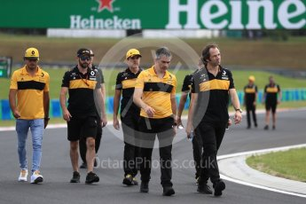World © Octane Photographic Ltd. Formula 1 – Hungarian GP - Track walk. Nick Chester – Chassis Technical Director at Renault Sport Formula 1 Team. Hungaroring, Budapest, Hungary. Thursday 26th July 2018.
