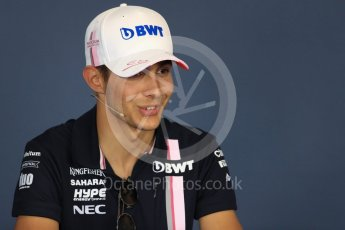 World © Octane Photographic Ltd. Formula 1 – Hungarian GP - FIA Drivers' Press Conference. Sahara Force India - Esteban Ocon. Hungaroring, Budapest, Hungary. Thursday 26th July 2018.
