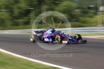 World © Octane Photographic Ltd. Formula 1 – Hungarian Post-Race Test - Day 1. Scuderia Toro Rosso STR13 – Brendon Hartley. Hungaroring, Budapest, Hungary. Tuesday 31st July 2018.