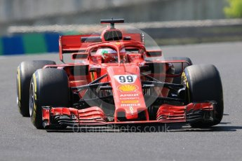 World © Octane Photographic Ltd. Formula 1 – Hungarian Post-Race Test - Day 1. Scuderia Ferrari SF71-H – Antonio Giovinazzi. Hungaroring, Budapest, Hungary. Tuesday 31st July 2018.