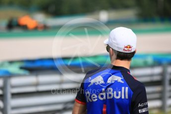 World © Octane Photographic Ltd. Formula 1 – Hungarian Post-Race Test - Day 2. McLaren MCL33 – Lando Norriswatched by Scuderia Toro Rosso – Pierre Gasly. Hungaroring, Budapest, Hungary. Wednesday 1st August 2018.