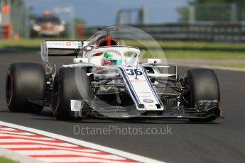 World © Octane Photographic Ltd. Formula 1 – Hungarian Post-Race Test - Day 2. Alfa Romeo Sauber F1 Team C37 – Antonio Giovinazzi. Hungaroring, Budapest, Hungary. Wednesday 1st August 2018.