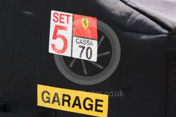 World © Octane Photographic Ltd. Formula 1 – Hungarian Post-Race Test - Day 2. Scuderia Ferrari packing case. Hungaroring, Budapest, Hungary. Wednesday 1st August 2018.