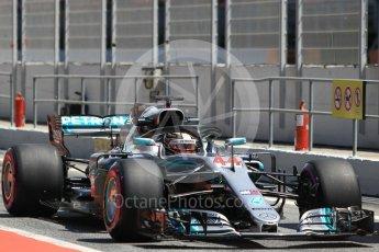 World © Octane Photographic Ltd. Formula 1 – In season test 1, day 1. Mercedes AMG Petronas Motorsport AMG F1 W09 EQ Power+ - Lewis Hamilton. Circuit de Barcelona-Catalunya, Spain. Tuesday 15th May 2018.