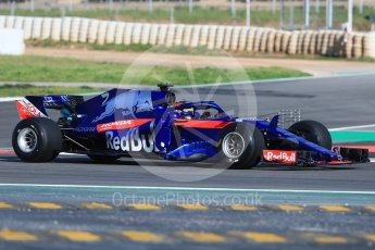 World © Octane Photographic Ltd. Formula 1 – In season test 1, day 1. Scuderia Toro Rosso STR13 – Sean Gelael. Circuit de Barcelona-Catalunya, Spain. Tuesday 15th May 2018.