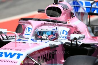 World © Octane Photographic Ltd. Formula 1 – In season test 1, day 1. Sahara Force India VJM11 – George Russell. Circuit de Barcelona-Catalunya, Spain. Tuesday 15th May 2018.