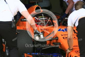 World © Octane Photographic Ltd. Formula 1 – In season test 1, day 1. McLaren MCL33 – Oliver Turvey. Circuit de Barcelona-Catalunya, Spain. Tuesday 15th May 2018.