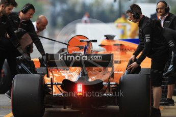 World © Octane Photographic Ltd. Formula 1 – In season test 1, day 2. McLaren MCL33 – Lando Norris and Stoffel Vandoorne. Circuit de Barcelona-Catalunya, Spain. Wednesday 16th May 2018.