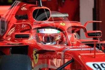 World © Octane Photographic Ltd. Formula 1 – In season test 1, day 2. Scuderia Ferrari SF71-H – Antonio Giovinazzi. Circuit de Barcelona-Catalunya, Spain. Wednesday 16th May 2018.