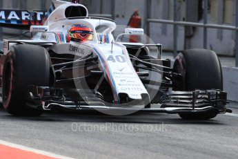 World © Octane Photographic Ltd. Formula 1 – In season test 1, day 2. Williams Martini Racing FW41 – Robert Kubica. Circuit de Barcelona-Catalunya, Spain. Wednesday 16th May 2018.