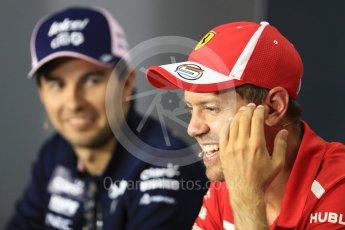 World © Octane Photographic Ltd. Formula 1 – Italian GP - FIA Drivers' Press Conference. Scuderia Ferrari - Sebastian Vettel. Autodromo Nazionale di Monza, Monza, Italy. Thursday 30th August 2018.