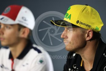 World © Octane Photographic Ltd. Formula 1 – Italian GP - FIA Drivers' Press Conference. Renault Sport F1 Team – Nico Hulkenberg. Autodromo Nazionale di Monza, Monza, Italy. Thursday 30th August 2018.