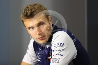 World © Octane Photographic Ltd. Formula 1 – Italian GP - FIA Drivers' Press Conference. Williams Martini Racing -  Sergey Sirotkin. Autodromo Nazionale di Monza, Monza, Italy. Thursday 30th August 2018.