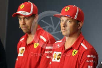 World © Octane Photographic Ltd. Formula 1 – Italian GP - FIA Drivers' Press Conference. Scuderia Ferrari - Sebastian Vettel and Kimi Raikkonen. Autodromo Nazionale di Monza, Monza, Italy. Thursday 30th August 2018.