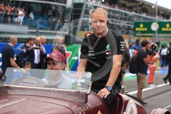 World © Octane Photographic Ltd. Formula 1 – Italian GP - Drivers Parade. Mercedes AMG Petronas Motorsport AMG F1 W09 EQ Power+ - Valtteri Bottas. Autodromo Nazionale di Monza, Monza, Italy. Sunday 2nd September 2018.
