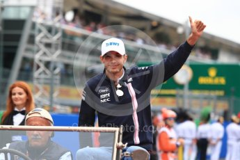 World © Octane Photographic Ltd. Formula 1 – Italian GP - Drivers Parade. Racing Point Force India VJM11 - Esteban Ocon. Autodromo Nazionale di Monza, Monza, Italy. Sunday 2nd September 2018.