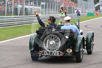 World © Octane Photographic Ltd. Formula 1 – Italian GP - Drivers Parade. Aston Martin Red Bull Racing TAG Heuer RB14 – Daniel Ricciardo. Autodromo Nazionale di Monza, Monza, Italy. Sunday 2nd September 2018.