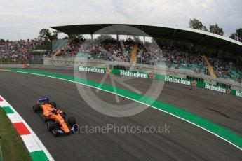World © Octane Photographic Ltd. Formula 1 – Italian GP - Practice 2. McLaren MCL33 – Fernando Alonso. Autodromo Nazionale di Monza, Monza, Italy. Friday 31st August 2018.
