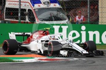 World © Octane Photographic Ltd. Formula 1 – Italian GP - Qualifying. Alfa Romeo Sauber F1 Team C37 – Charles Leclerc. Autodromo Nazionale di Monza, Monza, Italy. Saturday 1st September 2018.