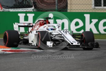 World © Octane Photographic Ltd. Formula 1 – Italian GP - Qualifying. Alfa Romeo Sauber F1 Team C37 – Marcus Ericsson. Autodromo Nazionale di Monza, Monza, Italy. Saturday 1st September 2018.