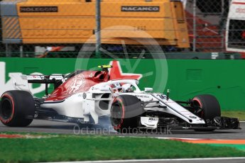 World © Octane Photographic Ltd. Formula 1 – Italian GP - Qualifying. Alfa Romeo Sauber F1 Team C37 – Charles Leclerc. Autodromo Nazionale di Monza, Monza, Italy. Saturday 1st September 2018.