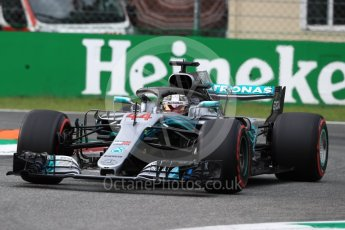 World © Octane Photographic Ltd. Formula 1 – Italian GP - Qualifying. Mercedes AMG Petronas Motorsport AMG F1 W09 EQ Power+ - Lewis Hamilton. Autodromo Nazionale di Monza, Monza, Italy. Saturday 1st September 2018.