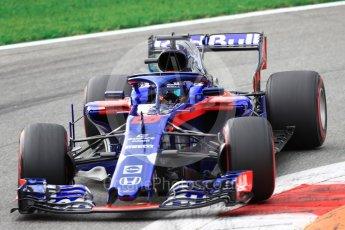 World © Octane Photographic Ltd. Formula 1 – Italian GP - Qualifying. Scuderia Toro Rosso STR13 – Brendon Hartley. Autodromo Nazionale di Monza, Monza, Italy. Saturday 1st September 2018.
