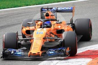 World © Octane Photographic Ltd. Formula 1 – Italian GP - Qualifying. McLaren MCL33 – Fernando Alonso. Autodromo Nazionale di Monza, Monza, Italy. Saturday 1st September 2018.